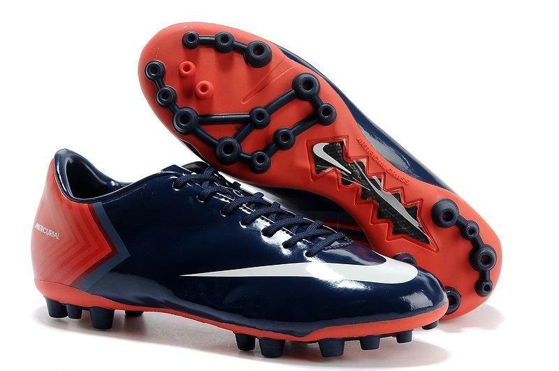 b3564682 Футбольные кроссовки бутсы Nike Mercurial Vapor X AG/MG - Midnight Blue  Indian Red White