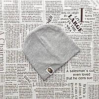 Демисезонная трикотажная шапка Варе для малышей от 2 до 5 мес. Серый