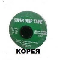 Капельная лента SUPER DRIP TAPE 8 mil 20 см (1000м). Капельный полив