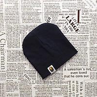 Демисезонная трикотажная шапка Варе для малышей от 2 до 5 мес. Темно-синий