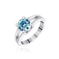 Серебряное кольцо с фианитом КК2ФТ/404 - 18,4