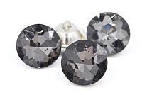 Пуговицы для диванов стеклянные 22 мм , серого цвета