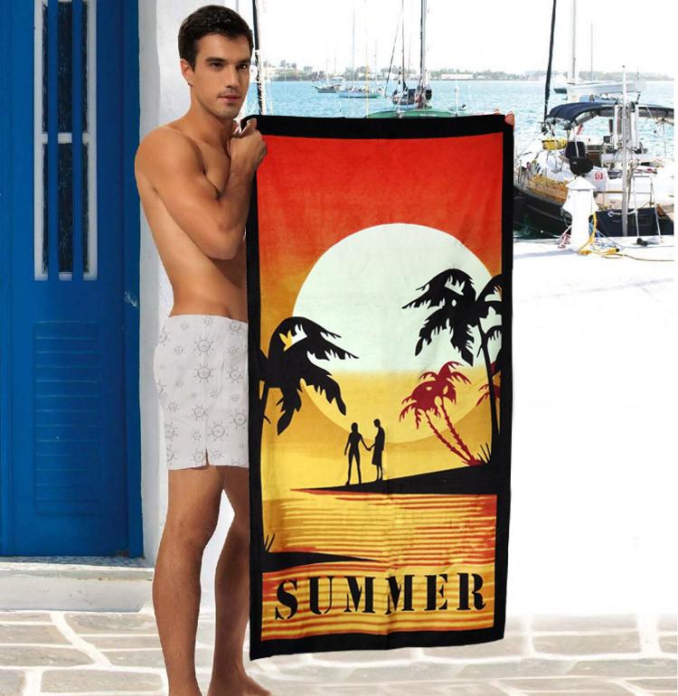 Стильное мужское полотенце Summer - №2316