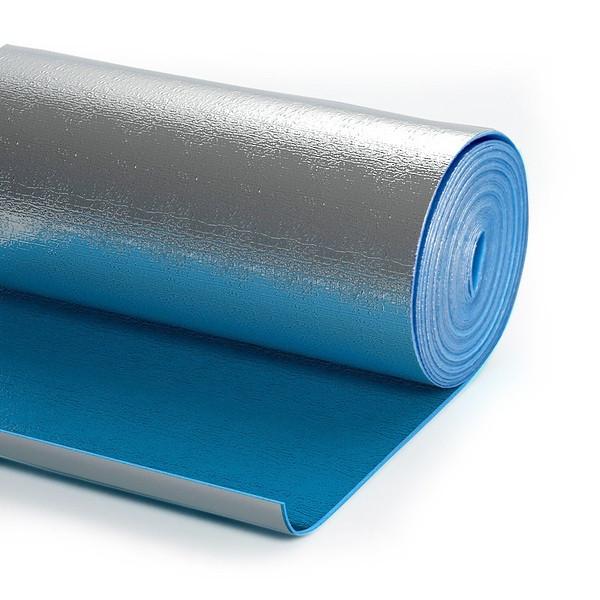 Полотно ППЭ самоклеющееся фольгированное 10 мм (1*15 м)