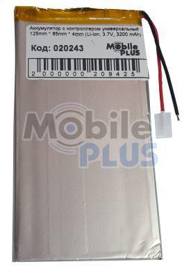 Аккумулятор с контроллером универсальный 125mm * 65mm * 4mm (Li-ion, 3.7V, 3200 mAh)