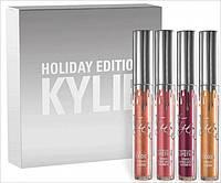 Жидкая матовая помада KYLIE Matte Holiday Edition набор 4 шт цвета  реплика