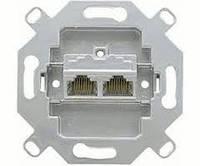 Розетка компьютерная двойная Jung UAE 8-8 UPOK6 механизм
