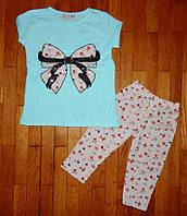 Детский костюм для девочки Бантик бирюза 1-4 лет