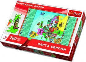 Пазл Trefl Карта Европы, 200 элементов TFL-15530
