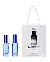 Парфюм 2 по 20 мл в подарочной упаковке Dior Sauvage для мужчин