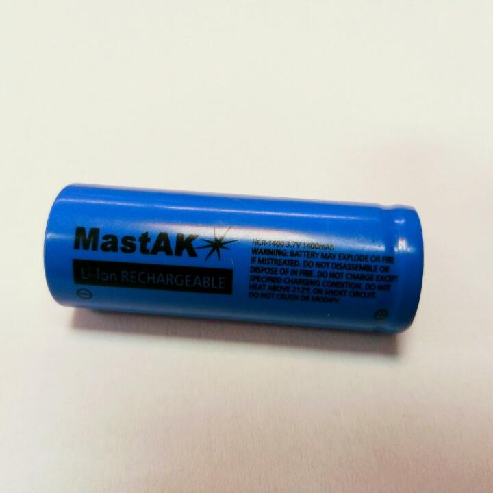 Аккумулятор MastAK ICR18500 3,7V 1400mAh Li