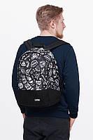 Рюкзак школьный молодежный Urban Planet 25L Mack Black