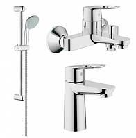 Набор смесителей для ванны GROHE BauLoope (23337000+32815000+2759800)