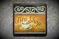 """Подарочная доска - подставка """"Ароматный кофе"""" (ручная работа), фото 1"""