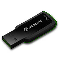 Флешка 16Gb Transcend 360 Black-Green / 15/7Mbps / TS16GJF360