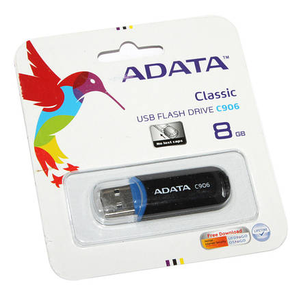 Флешка 8 Gb A-DATA C906 Black / AC906-8G-RBK, фото 2