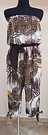 Цветной шифоновый комбинезон с укороченной штаниной (Италия)