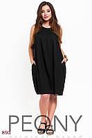 Платье Кастро (50-52 размер, черный) ТМ «PEONY»