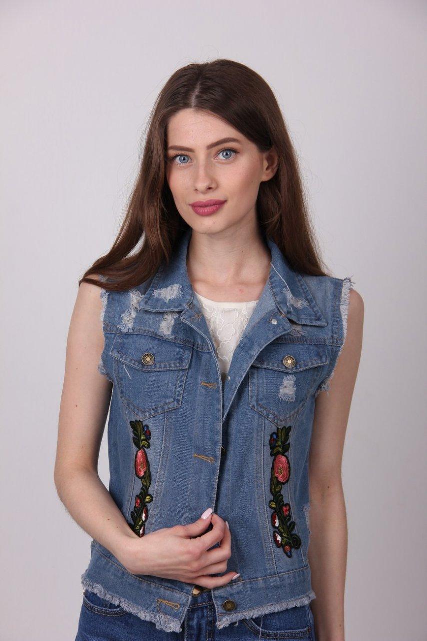 Стильная жилетка под джинсы размер: М,L