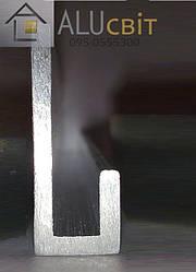 Специальный L - образный алюминиевый профиль  33х12х2,5 анод серебро