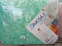 Плед покрывало Aksu 220*240 Евро размер.Мята.