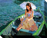"""Схема для вышивки бисером """"Прогулка на лодке"""""""