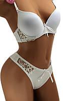 Женский комплект нижнего белья, чашка 75В, 80B, 85B, цвет белый, 526