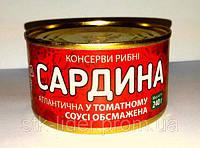 """Сардина в томатном соусе ТМ """"Канапка"""" 240г"""