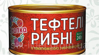 """Тефтели рыбные в томатном соусе с овощным гарниром 240г """"Канапка"""""""