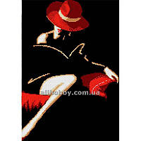 Схема для вышивания бисером Дама в красной шляпе БИС3-120 (А3)
