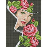 Схема для вышивания бисером Дама с розами БИС3-96 (А3)