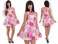 Молодежное платье принт ромашки. Разные цвета.