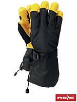 Защитные рукавицы укрепленные оленьей кожей, совмещенной с водоотталкивающей тканью RNORWING BY