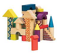 Деревянные кубики ЕЛОВЫЙ ДОМИК 40 деталей, в сумочке Battat (BX1361Z)