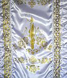 Покрывало ритуальное свеча золото, фото 3
