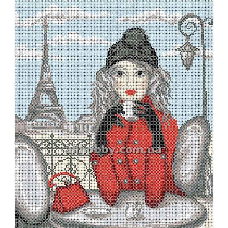 Схема для вышивания бисером Девушка в Париже БИС3-68 (А3)