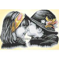 Схема для вышивания бисером Детский поцелуй БИС3-77 (А3)