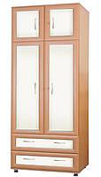 Шкаф для одежды (полки,релинг) с шухлядами С Злата