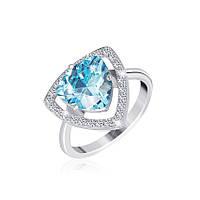 Серебряное кольцо с фианитом КК2ФТ/409 - 19,0