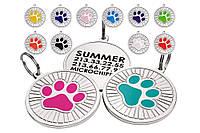 Эмалированный подвесной жетон с гравировкой для собаки/кошки