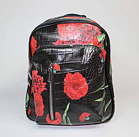 Рюкзак городской с цветочным принтом
