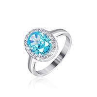 Серебряное кольцо с фианитом КК2ФТ/410 - 19,0