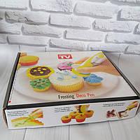 Ручка для декора тортов и кексов с насадками на батарейках