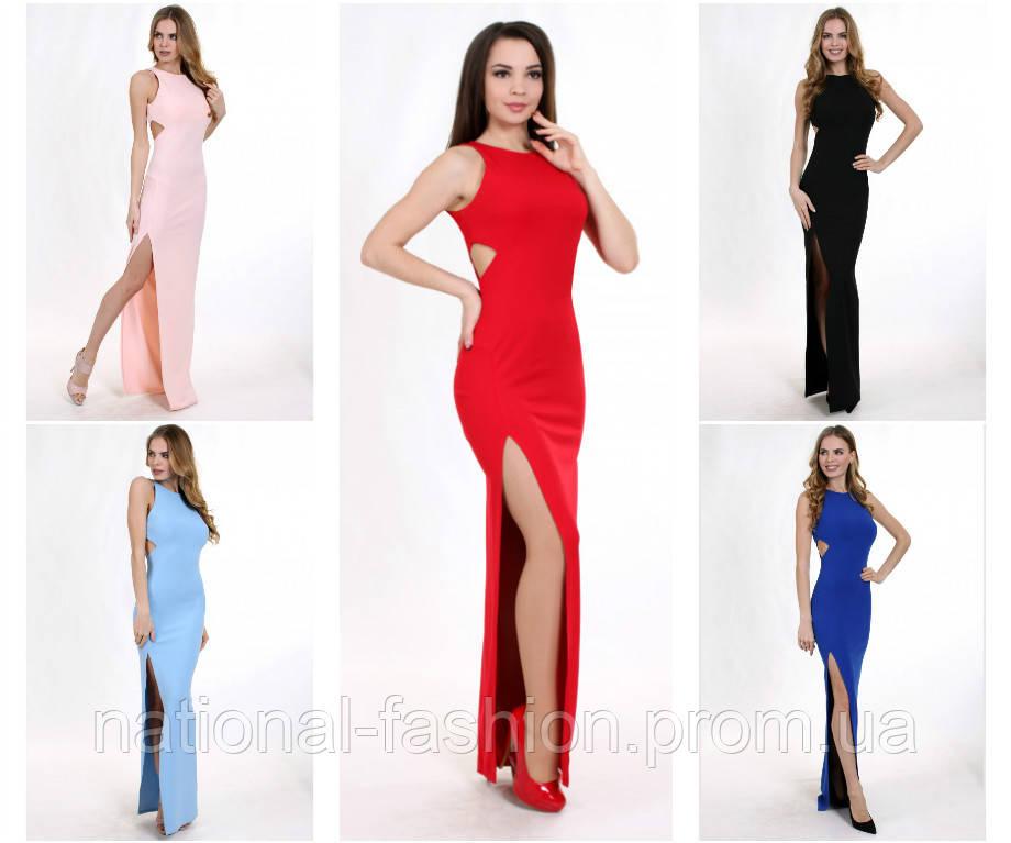 40b099cb09aff85 Длинное вечернее платье с разрезом мод.G2037 (p.34-40 euro), цена 1 ...