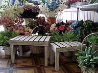 Декор для дома и сада Набор из 2-х деревянных столиков.
