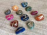 Руны из камня, 25 символов. Цветной агат (XL), фото 2