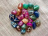 Руны из камня, 25 символов. Цветной агат (XL), фото 3