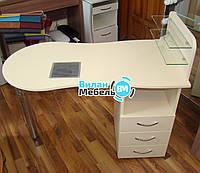 """Маникюрный стол """"Стандарт"""" оборудован встроенной  вытяжкой"""