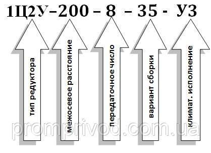 Схема условных обозначений 1Ц2У