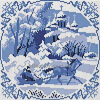 Схема для вышивания бисером Зима БИС4-26 (А4) Атлас